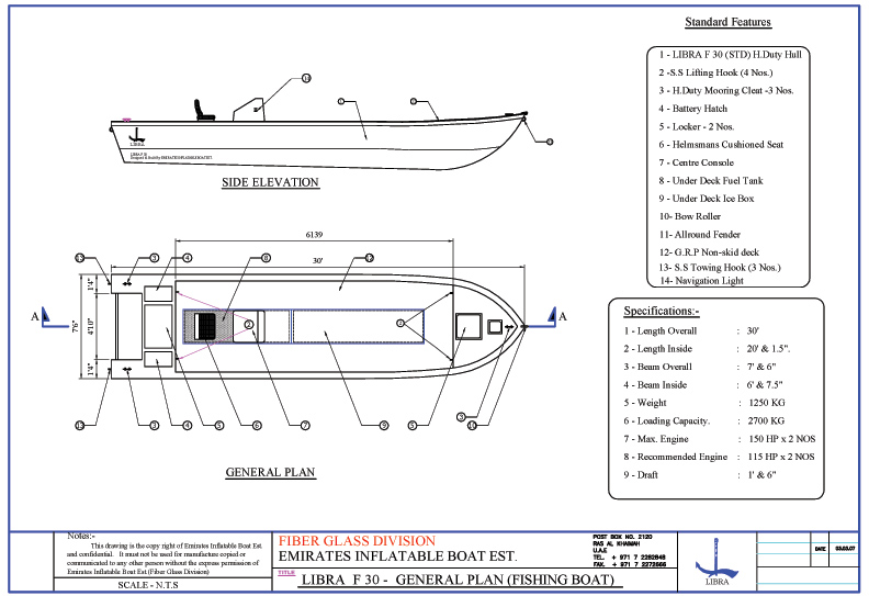 Emirates Inflatable Boats Libra Est